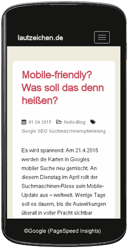 mobile-friendly Handy-Darstellung