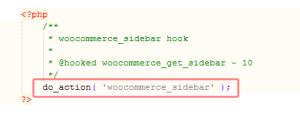 WooCommerce: Sidebar-Aufruf