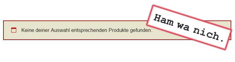 WooCommerce-Meldung: Keine Produkte gefunden.