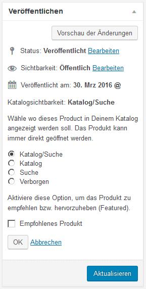 """Option """"empfohlenes Produkt"""""""